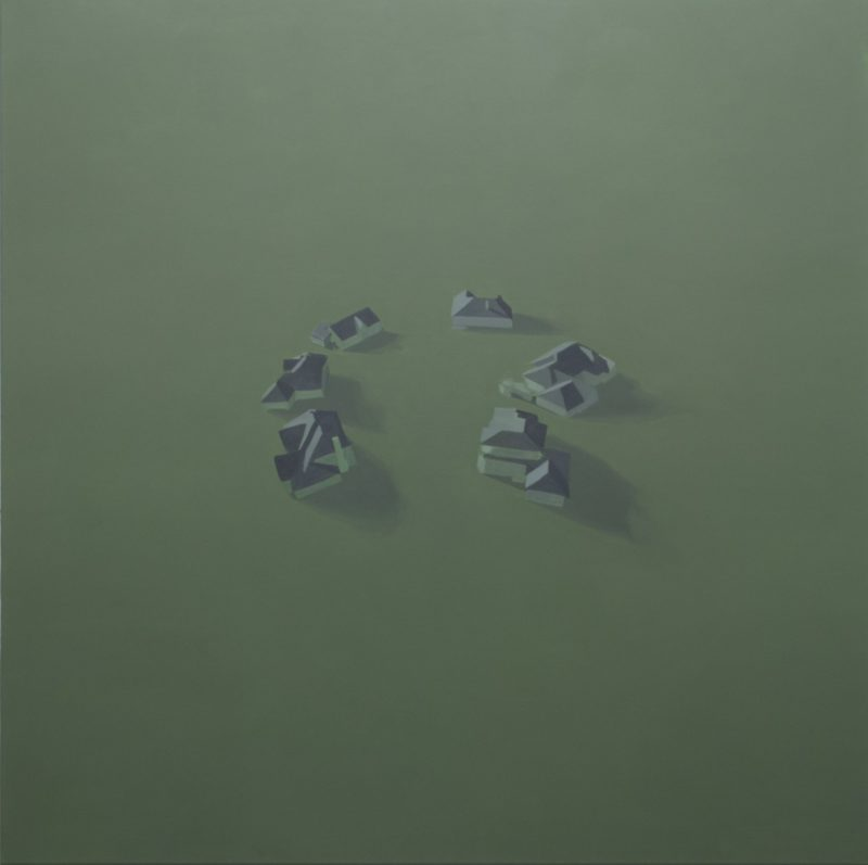 Benjamin Rubloff, Congregation (This Must be The Place), 2012, oil on canvas, 160x160cm